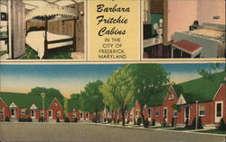 Barbara Fritchie Tourist Cabins Postcard