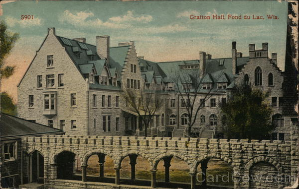 Grafton Hall Fond Du Lac Wi Postcard