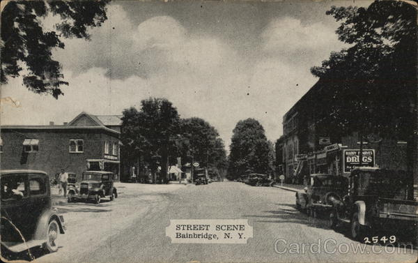 Street Scene Bainbridge New York