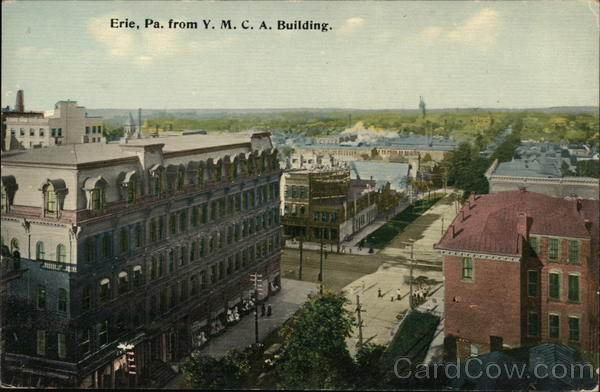 City View From Y.M.C.A. Building Erie Pennsylvania