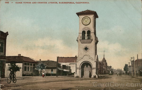 Clock Tower and Chester Avenue Bakersfield California