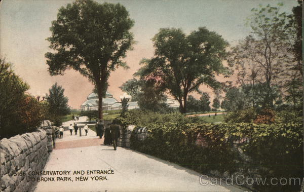 Conservatory and Entrance to Bronx Park New York
