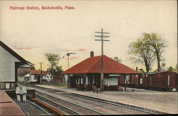 Railroad Station Baldwinville Massachusetts Depots
