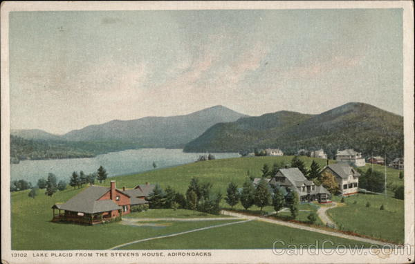 Lake Placid from the Stevens House, Adirondacks New York