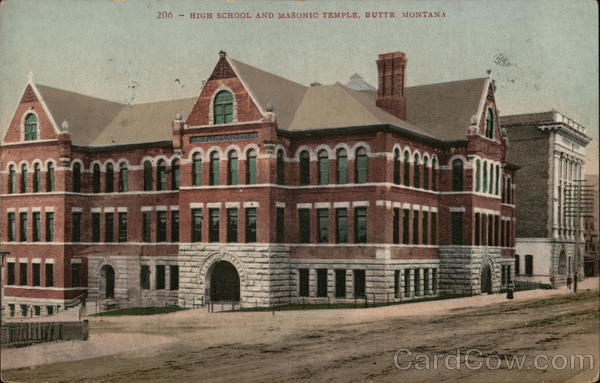 High School and Masonic Temple Butte Montana