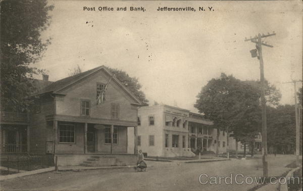 Post Office and Bank Jeffersonville New York