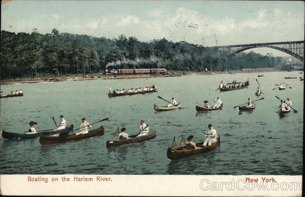 Boating on the Harlem River New York