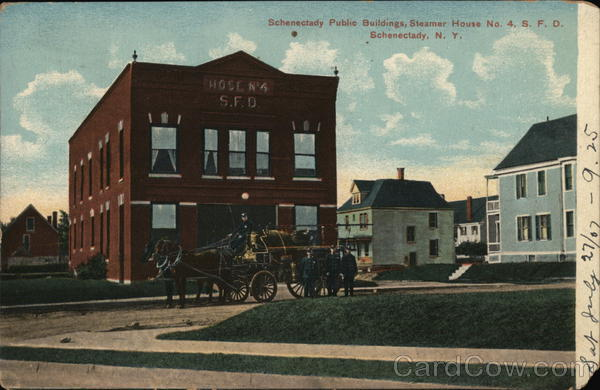 Schenectady Public Buildings, Steamer House No. 4, S.F.D. New York