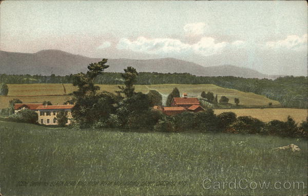 Scene Showing Black Head and High Peak Mountains, Cairo, Catskill Mountains New York