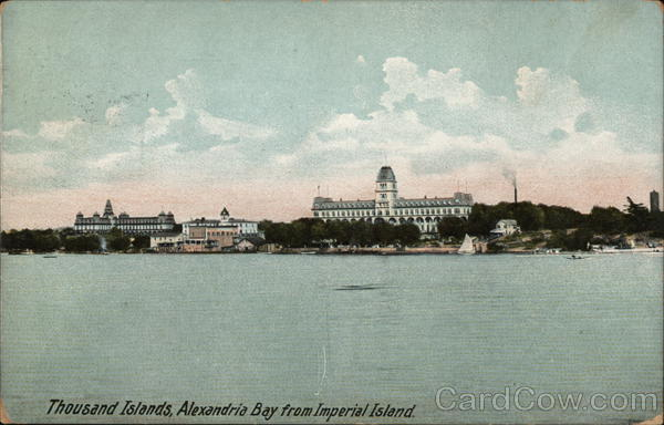 Alexandria Bay from Imperial Island Thousand Islands New York