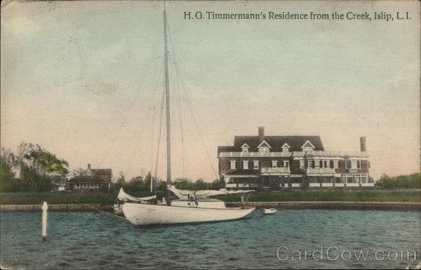 H.G. Timmermann's Residence From the Creek, Long Island Islip New York
