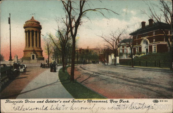 Riverside Drive and Soldiers and Sailors Monument New York
