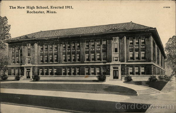 The New High School, Erected 1911 Rochester Minnesota