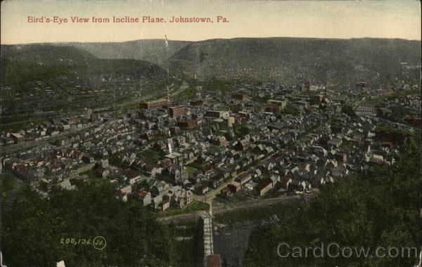Birdseye View From Incline Plane Johnstown Pennsylvania