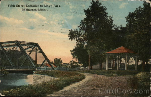 Fifth Street Entrance to Mayo Park Rochester Minnesota