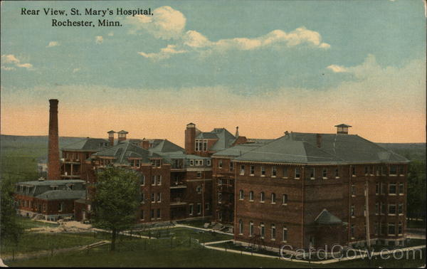 Rear View of St Mary's Hospital Rochester Minnesota