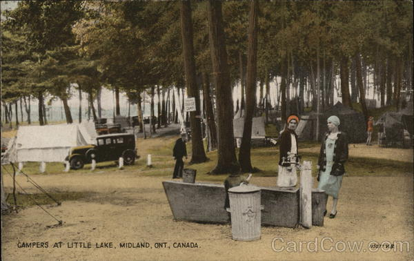 Campers at Little Lake Midland Canada Ontario