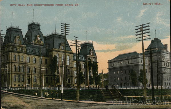 City Hall and Courthouse from Craig Street Montreal Canada