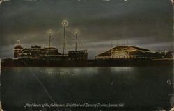 Night Scene at Auditorium, Ship Hotel and Dancing Pavilion