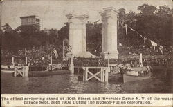 The Official Reviewing Stand at 110th Street and Riverside Drive in N.Y.