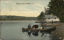 Boat on Highland Lake, Venoge