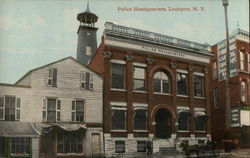 Street View of Police Headquarters Postcard