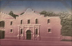 The Alamo - Embossed Postcard
