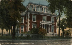 Street View of Governor's Mansion Postcard