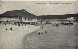 Bathing Beach on Long Island