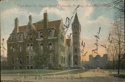 Bryn Mawr College - Taylor Hall and Pembroke Archway Postcard
