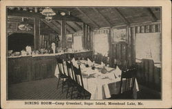 Camp Greenleaf, Sugar Island - Dining Room, Moosehead Lake
