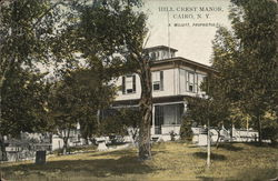 Hill Crest Manor Postcard