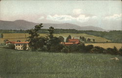 Scene Showing Black Head and High Peak Mountains, Cairo, Catskill Mountains Postcard