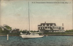 H.G. Timmermann's Residence From the Creek, Long Island