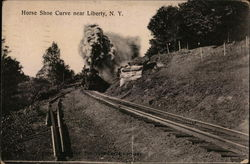 Horseshoe Curve Near Liberty Postcard