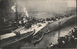 View of SS Eastland, Taken from South Side of River, Shortly After Accident