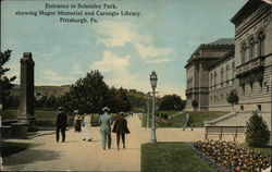 Entrance to Schenley Park, Showing Magee Memorial and Carnegie Library
