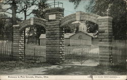 Entrance to Fair Grounds Postcard