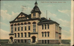 Logan County High School Postcard