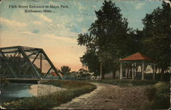 Fifth Street Entrance to Mayo Park