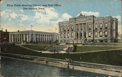 Riverfront Showing Library and Post Office