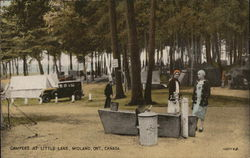Campers at Little Lake