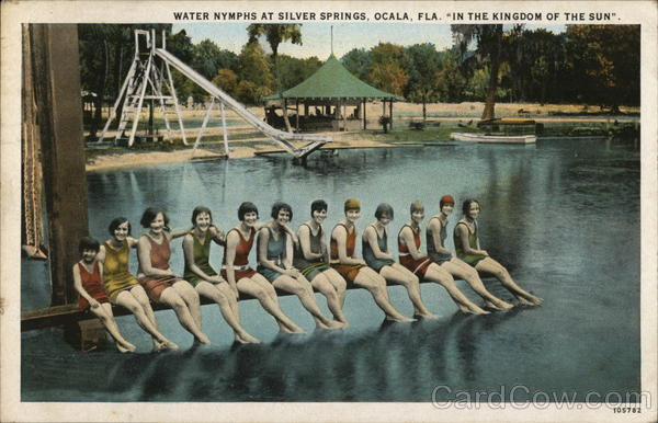Water Nymphs at Silver Springs Ocala Florida Swimsuits & Pinup