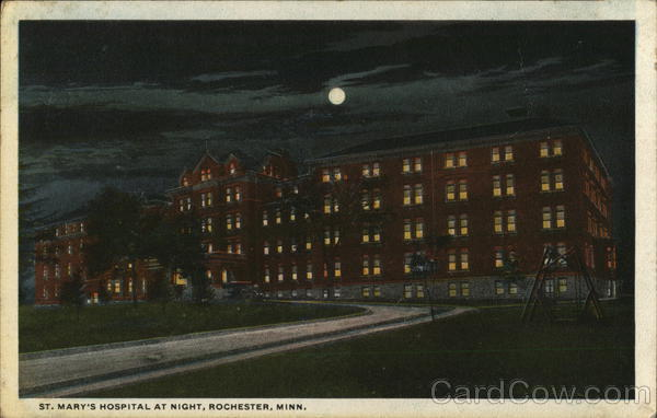 St. Mary's Hospital at Night Rochester Minnesota