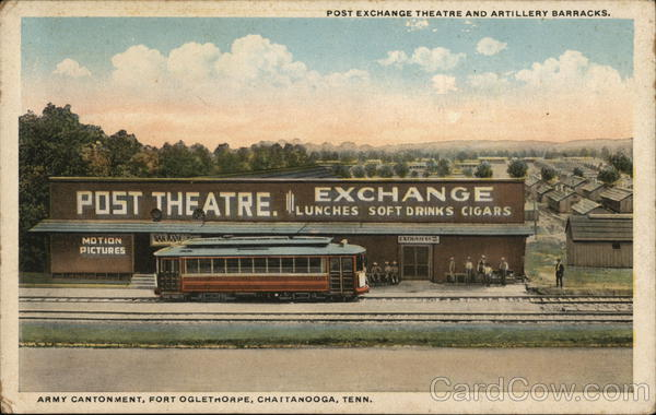 Post Exchange Theatre and Artillery Barracks Chattanooga Tennessee