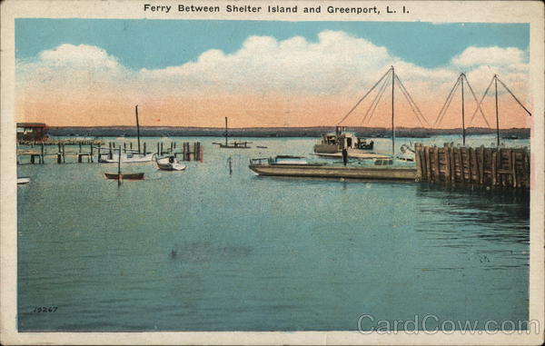 Ferry Between Shelter Island Greenport, L. I. Long Island New York