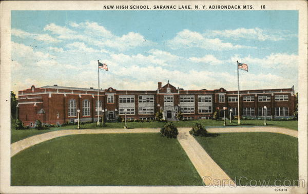 New High School Saranac Lake New York