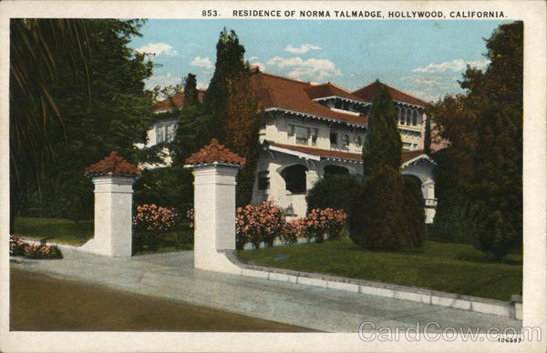 Residence of Norma Talmadge Hollywood California