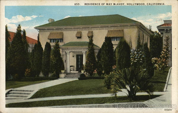 Residence of May McAvoy Hollywood California