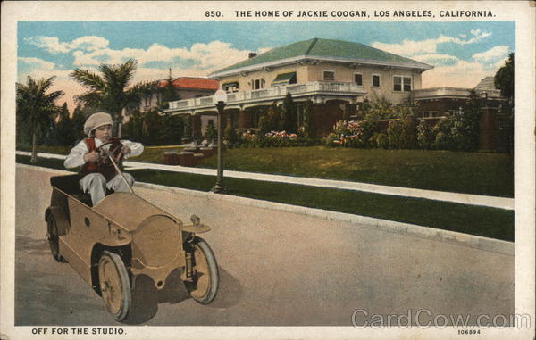 The Home of Jackie Coogan - Off for the Studio Los Angeles California